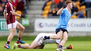 Aaron Byrne celebrates his decisive goal for Dublin against Galway