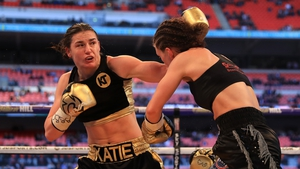 Katie Taylor boxed at Wembley earlier in her professional career