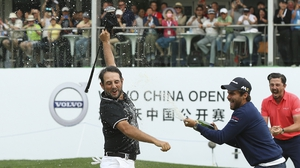 Alexander Levy celebrates his second win in China inside four years