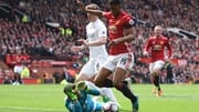 Marcus Rashford's dive earned United a first-half penalty