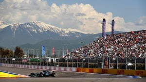 Valtteri Bottas en route to securing the Russian Grand Prix in Sochi