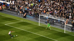 Harry Kane strikes from the spot to put Spurs two up against the Gunners