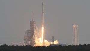 The launch was planned for yesterday but was postponed due to a sensor issue