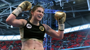Katie Taylor takes the plaudits after her win at Welbley Stadium
