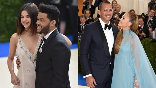 Selena Gomez and The Weeknd and Jennifer Lopez and Alex Rodriguez at the Met Gala