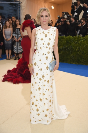 Diane Kruger has so much taste as she proves once again in an embroidered Prada gown.