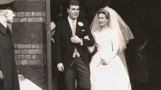 Tony O'Reilly And Susan M Cameron on their wedding day 5 May 1962