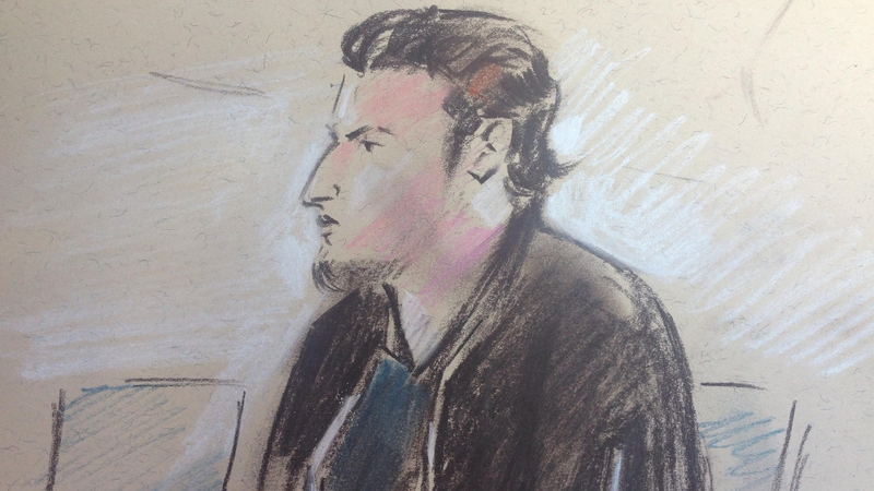 Hassan Bal, who holds an Irish and a British passport, pleaded guilty at Waterford Circuit Court (Artist's impression)