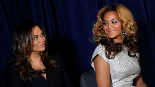 Tina and Beyoncé Knowles
