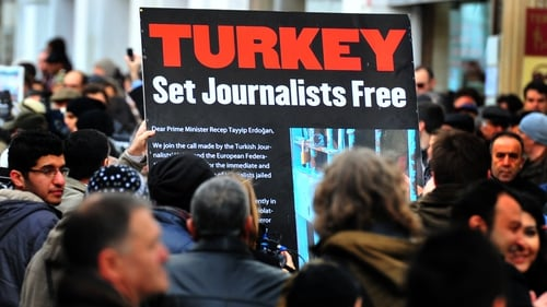 Globally in 2016, one third of all imprisoned journalists, media workers and executives were in Turkey's prisons
