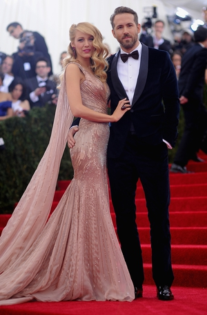 Blake and husband Ryan Reynolds look like an old Hollywood couple at the MET Gala in 2014 wearing custom Gucci.