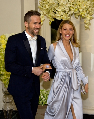 Mr. and Mrs. Reynolds were super classy and always laughing at the White House State Dinner for Canada in 2016. Blake Lively was wearing a beautiful Ralph and Russo satin gown.