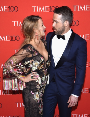 Ryan making his wife laugh at the TIME 100 Gala as he was nominated this year. Blake wore a gorgeous Marchesa dress for the occasion.