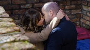 Maria and Aidan share a kiss