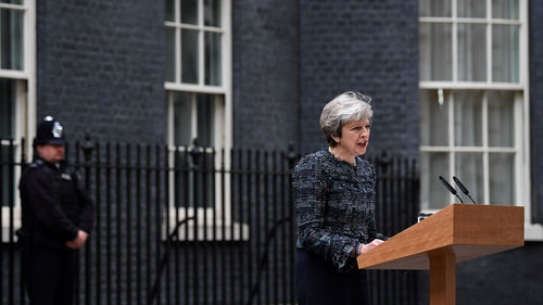 Theresa May was speaking after visiting Queen Elizabeth to mark the dissolution of parliament