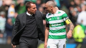Rodgers with team captain Scott Brown