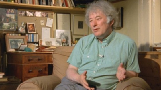 Seamus Heaney pictured on the programme 'Gentle Tiger', 30 November, 1987.