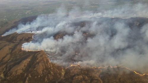 A gorse fire in Co Sligo
