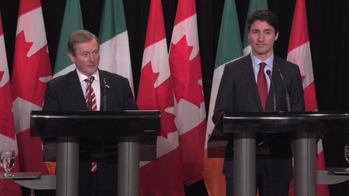 It is the first formal meeting between Enda Kenny and Justin Trudeau