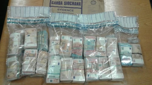 The two men are being detained at Blackrock Garda Station after the seizure