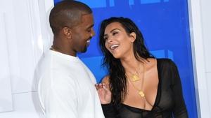 Kim Kardashian and Kanye West at the 2016 MTV Video Music Awards.