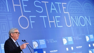 Jean-Claude Juncker addresses a conference in Florence