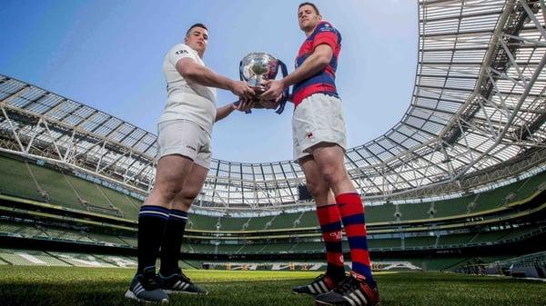 Cork Constitution's Gavin Duffy with Ben Reilly of Clontarf