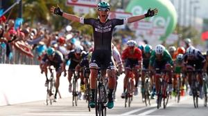 Lukas Postlberger celebrates his win