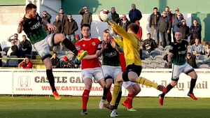 Ryan Brennan finds the net for Bray