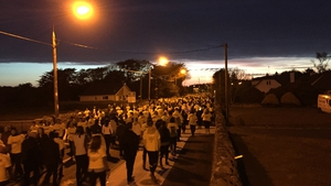 More than 2,000 people took part in the Oranmore walk in Galway