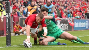 Andrew Conway finished well for Munster's third try