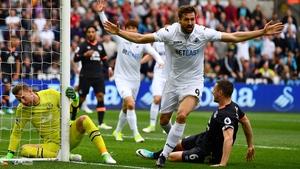 Fernando Llorente celebrates his crucial goal