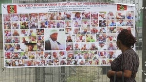 A Nigerian army poster of wanted Boko Haram suspects in Bayelsa, Nigeria