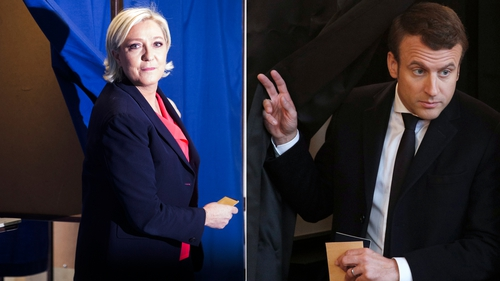 The parties of both Marine Le Pen (left) and Emmanuel Macron failed to make major ground in the regional elections, with centre-right Republicans on course to top the vote
