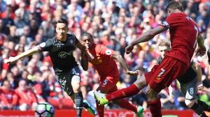 James Milner's second-half penalty was saved by Fraser Forster