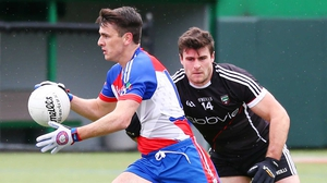 Former Dublin hurler Danny Sutcliffe in possession for New York