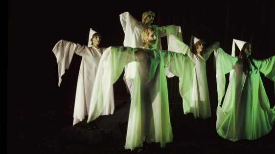 Dancers Dressed As Ghosts