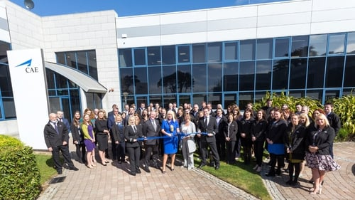 Minister Mary Mitchell O'Connor at the opening of CAE Parc Aviation's new offices in Dublin today