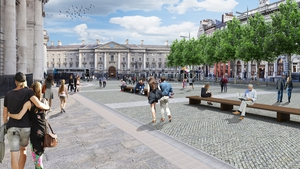 The city council had hoped to have a pedestrian plaza on College Green with a ban on all east-west traffic