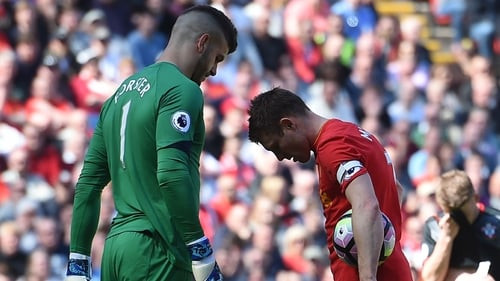James Milner's second-half penalty was saved by Southampton 'keeper Fraser Forster