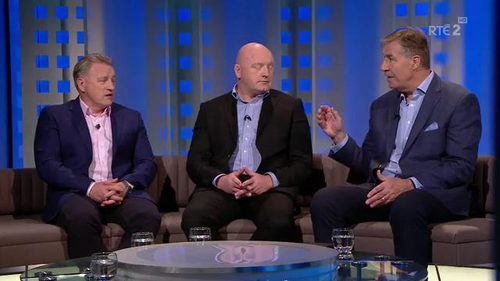 The Against The Head panel (l-r) Eddie O'Sullivan, Bernard Jackman and Donal Lenihan