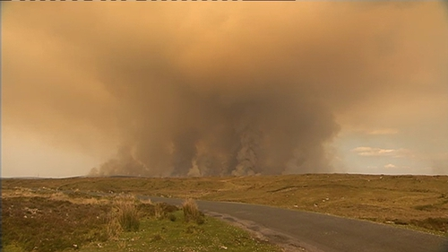 Over 1,500 hectares of forestry and 2,000 hectares of bogland have been devastated
