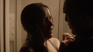 Colleague Denis (Ciaran McMenamin) gets to grips with Ruth (Caoilfhionn Dunne) in the shadowy, grief-stricken In View