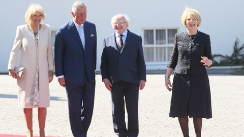President Higgins welcomes Prince Charles and Camilla | RTÉ News