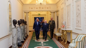 President Higgins showed the Prince of Wales around Áras an Uachtaráin (Pic: Clarence House)