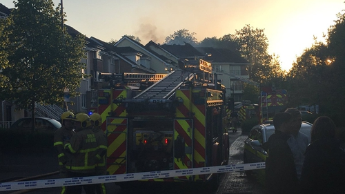 There are no reported injuries, but up to 100 people have been evacuated