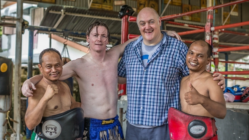 Ed Byrne attempts Muay Thai Boxing, tonight on RTÉ One.