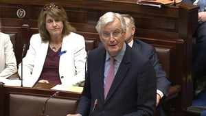 Michel Barnier delivered a 20 minute speech to a joint sitting of the Dáil and Seanad