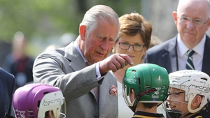 The Prince of Wales was greeted by avid hurling fans at Kilkenny Castle