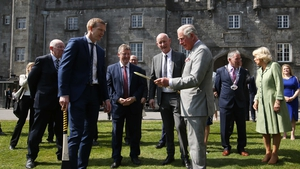 Prince Charles was shown the art of hurling by Henry Shefflin and Brian Cody